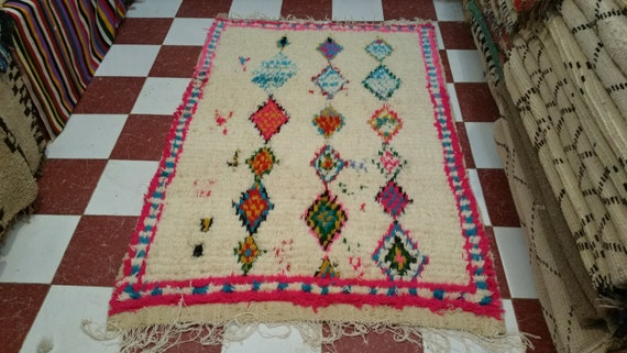 Vintage moroccan azilal rug tapis berbère alfombras