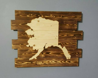 State of Alaska Outline Silhouette Wall Art