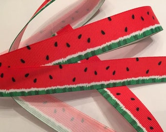 Watermelon Grosgrain Ribbon 7/8""