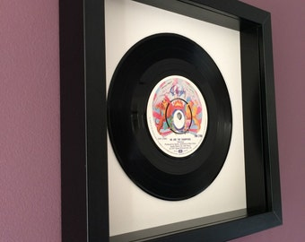 "Queen ""We Are The Champions"" -Framed Original Vinyl Gift"