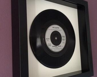 "Eric Clapton ""Wonderful Tonight"" - Framed Vinyl Record"