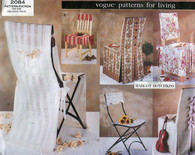 Free Us Ship Vogue 2084 Patterns for Living Margot Hotchkiss Chair Slipcovers  Out of Print