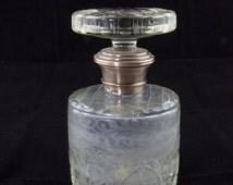 Hot Summer Sale Art Deco Crystal Siver Etched Bottle Decanter