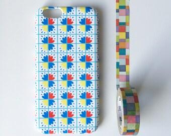 Bright Tiles phone case / geometric iPhone 7 case / iPhone 7 Plus / Spanish tiles phone case / iPhone and Samsung Galaxy S models