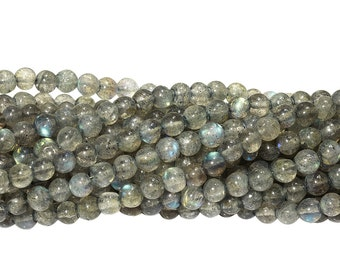 14 IN Strand 4 mm Labradorite Round Smooth Gemstone Beads (LABRND0045)