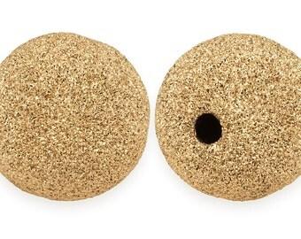 2 Pcs 5 mm 14K Gold Filled Stardust Beads (GF520405)
