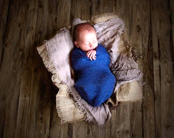 Royal Blue Baby Wrap Newborn Photo Prop Stretch Wrap Baby Photography Wrap, Newborn Photography Prop!