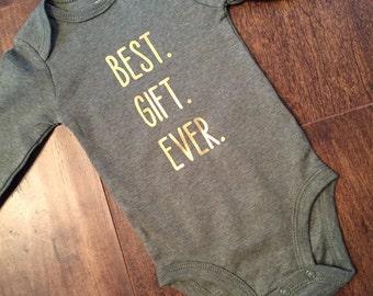 Best Gift Ever Onesie, Best Gift Ever, Baby Boy Onesie, Christmas Onesie