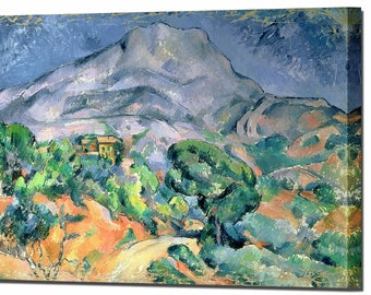 Paul Cezanne Mont Sainte Victoire Canvas Wall Art Print Picture Wall Decor Framed Ready To Hang