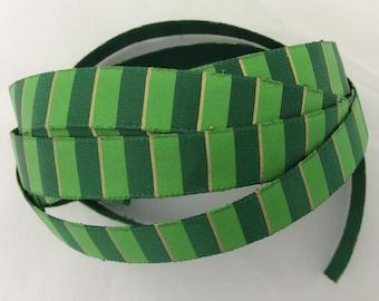 Green Striped Ribbon