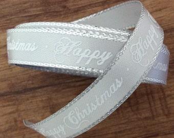 Silver Christmas Ribbon