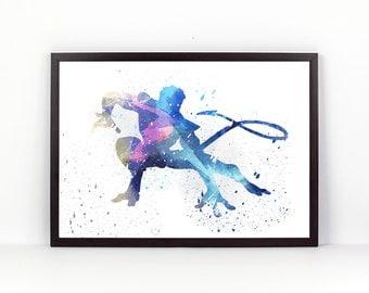 X Men, Nightcrawler fan Art, Watercolor alternative poster, Watercolor Art, Nursery Print, Nursery Wall Art,