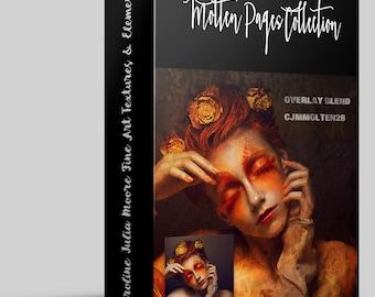 Molten Pages Digital Fine Art Texture Collection