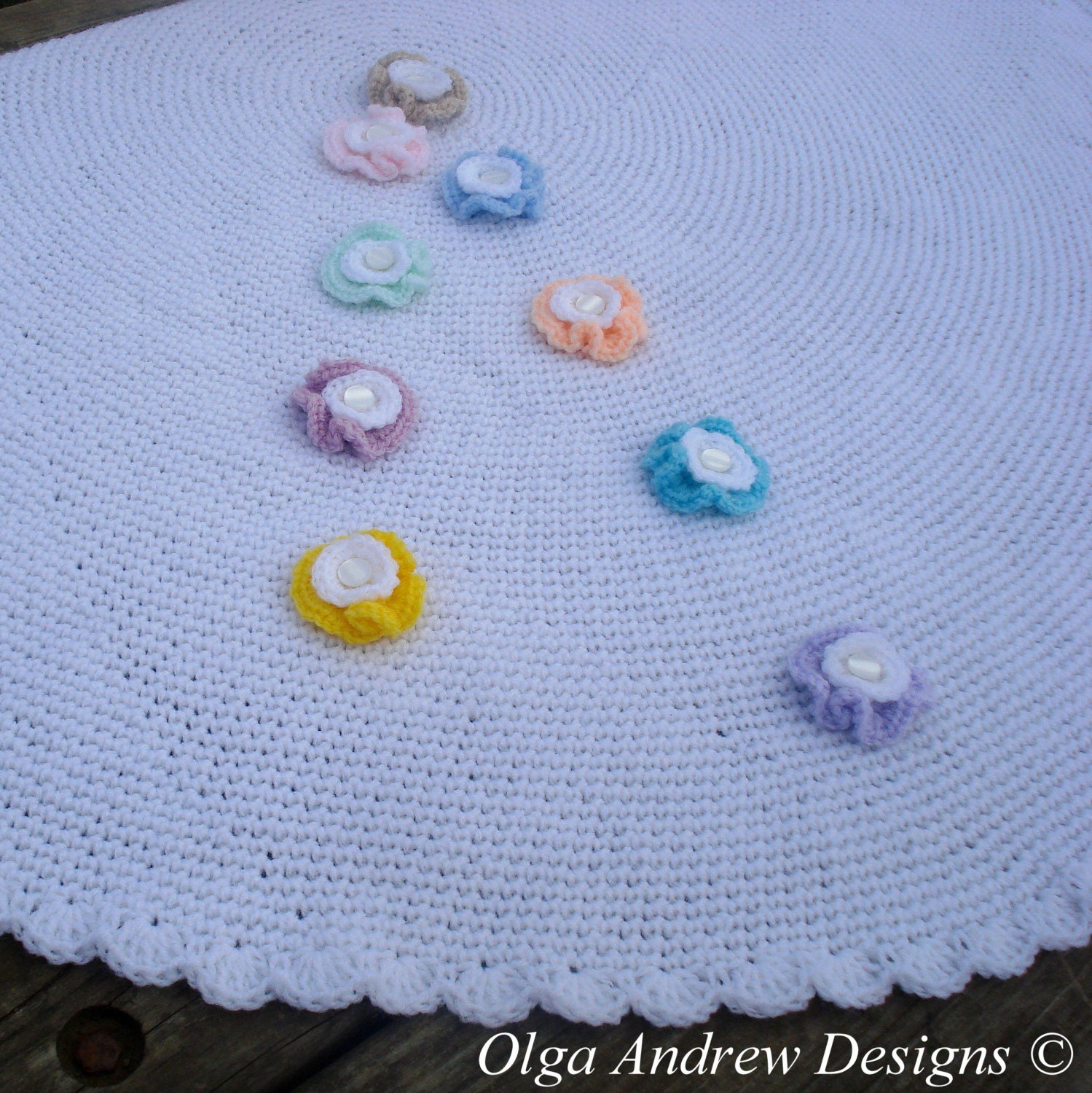 Baby blanket crochet pattern round crochet baby blanket pattern this is a digital file bankloansurffo Images