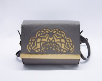 Leather clutch -  leather bag