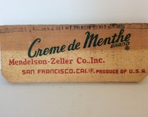 Vintage primitive wood sign from crates. Quirky wall art. Wooden advertisement sign. Rustic crate end panel signs. California wood signs.