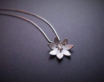 MIDSUMMER MAGIC - Arctic Starflower Sterling Silver necklace