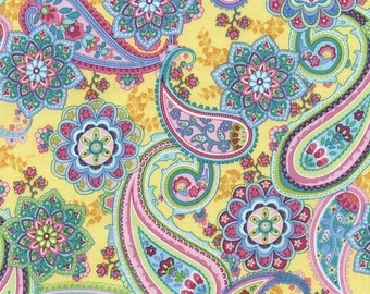 Tribeca Paisley on Yellow by the Half Yard