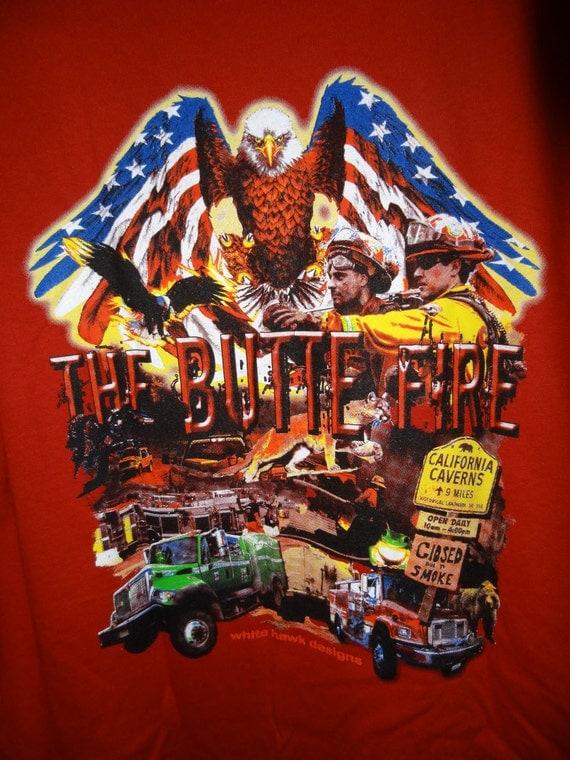 items similar to mens tee shirt  butte fire t shirt