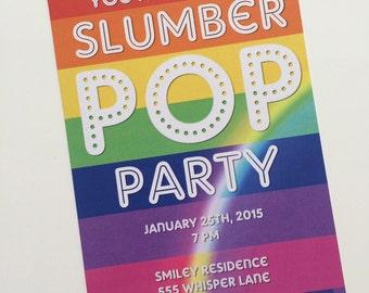Slumber Pop Party Invitation - Digital File