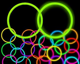 Neon Rave Clipart Glowstick Necklace Bracelet