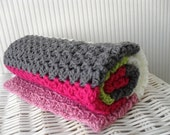 """Crochet pattern baby blanket """"Candy"""", sweet, cozy crochet blanket, newborn gift, baby girl homemade gift, PDF US terms, instant download"""