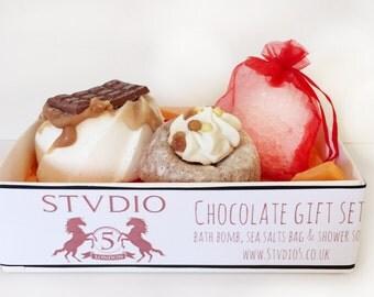 Vegan and Cruelty Free handmade chocolate bath gift set