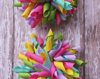Colorful Corker Hair Bows, Colorful Korkers Hair Bows, Korker Hair Bows, Corkers Hair Bows, Colorful Hair Bows.