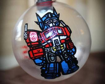 Transformer Themed Ornament- Optimus Prime