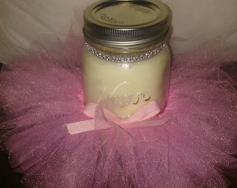 100% Soy Tutu Mason Jar Soy Candles - 16 oz