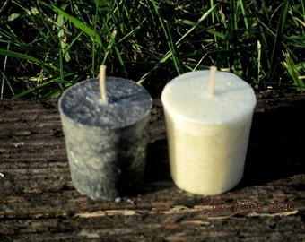 Altar Candle Set ~ Black and White Altar Candles ~ Wicca Altar Candles ~ Votive Candles ~ Witchcraft Altar Candles ~ Witchcraft Supply