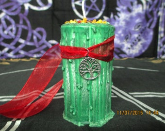 Yule Candle ~ Spell Candle ~ Witchcraft Candle ~ Wicca Spell Candle ~ Drippy Candle ~ Wicca Ritual Candle ~ Yule Sabbat Candle