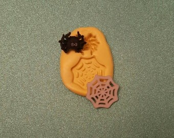 HALLOWEEN Spider Silicone Mold, gumpaste fondant cake decorating, chocolate, candy, polymer clay