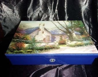 90s Vintage Thomas Kinkade Stationary Set / New / Used / Paper / Envelopes / Painter of Light / Boxed Set / Boxed Stationary / Christian