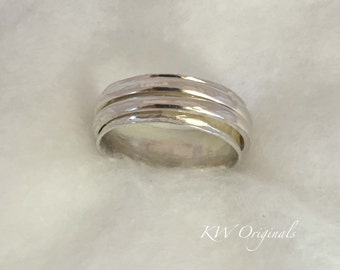 Sterling Silver Spinner Ring Size W