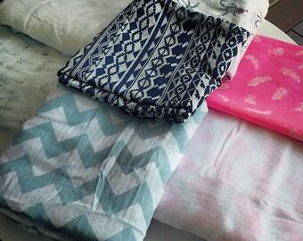 Organic cotton wrap // Muslin swaddle wrap