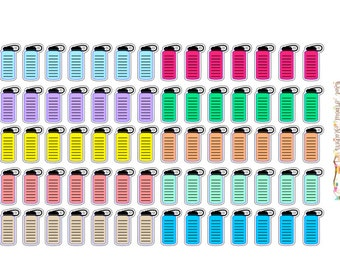 Water Bottle/Daily Water Intake Stickers Pastel Colored or White for Mormon Mom Planner or Can Work for Any Planner