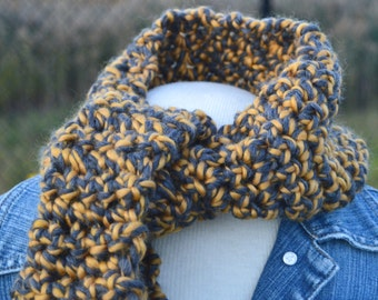 Wool scarf neck warmer for man