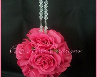 Silk Rose Wedding Pomander Kissing Ball
