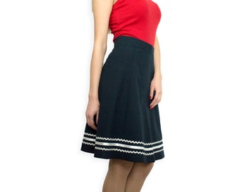 Dark blue skirt with decoration