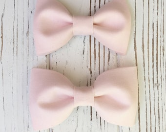 Blush pink bowtie for groom, groomsmen, ring boys - Daddy and son -baby, toddler, boy's bowties- Ring bearer's bow tie- blush bow ties
