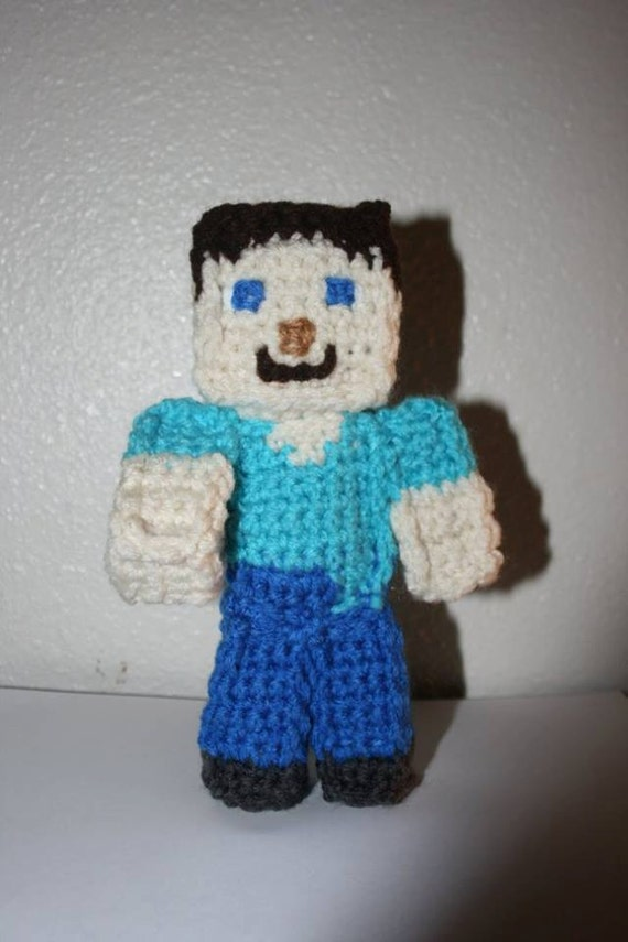 Amigurumi Free Pattern Owl : Items similar to Amigurumi Crocheted MineCraft Steve Doll ...