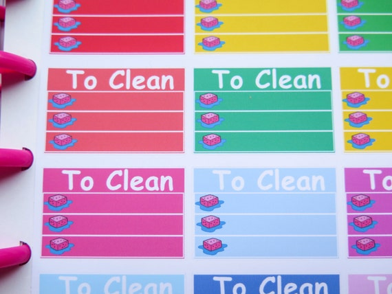 To Clean Checklist Stickers