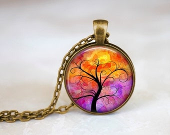 Whimsical Tree I Handmade Pendant Necklace