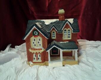 Vintage Christmas In Vermont, Santas Best Red Brick House