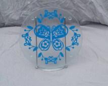 Decorative butterfly glass cutting board - kitchen decoration - butterfly decoration - glass chopping board - cute kitchen decor
