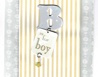 Special listing: Baby boy greeting card