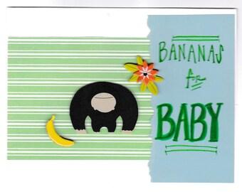 Bananas for Baby card