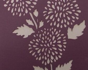 Pom Pom Flower Stencil