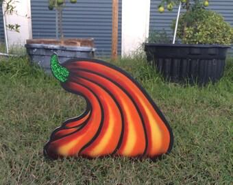 Curved pumpkin sign | Halloween season signs | Halloween artwork